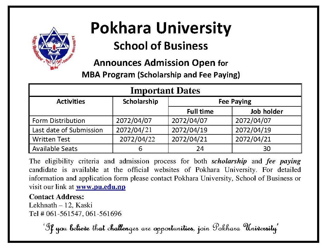 Pokhara-University-MBA-AD-fee-paying