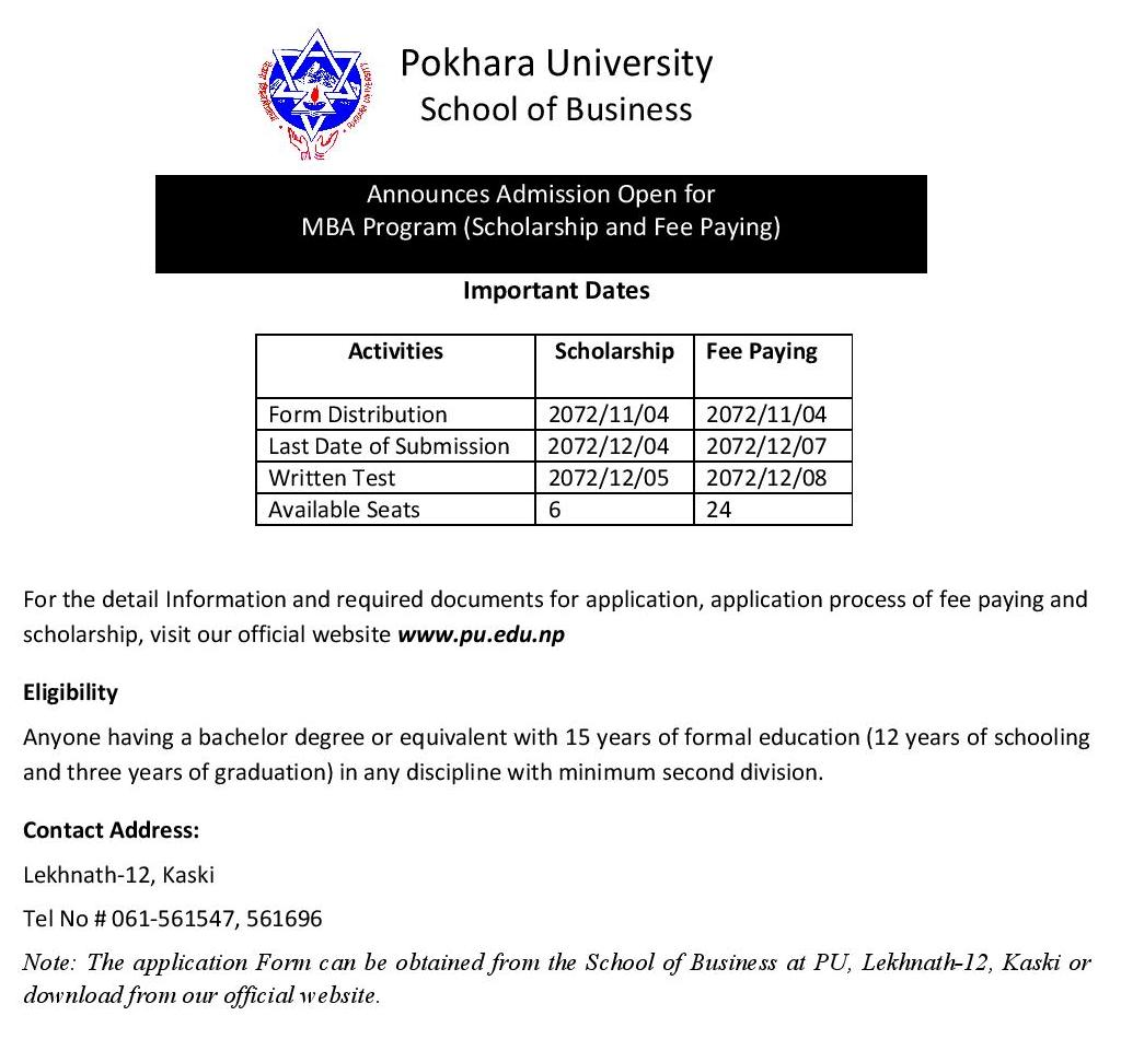 Admission for MBA