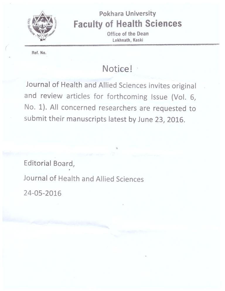 journal notice