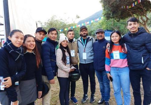 BECS Students in Literature Festival, Pokhara