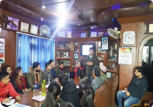 Interaction with Binod Sharma, UN Habitat District Coordinator (Exposure Visit 2020, MPGD  MDEVS)